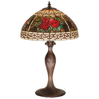 Meyda 37789 Roses & Scroll Tiffany Table Lamp   Table Lamps