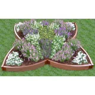 Frame It All Four Leaf Clover Recycled Resin Raised Garden Bed   Raised Bed & Container Gardening