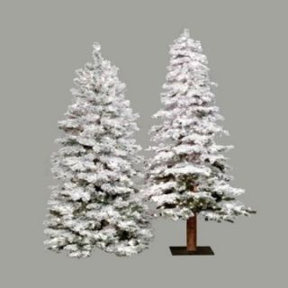 6 ft. Flocked Spruce Alpine Medium Pre lit Christmas Tree   Christmas Trees