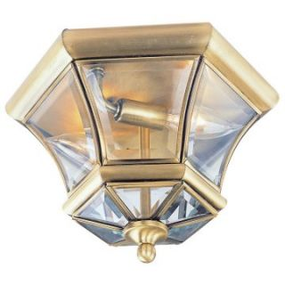 Livex Monterey 7052 01 Outdoor Ceiling Light   7H in. Antique Brass   Outdoor Ceiling Lights