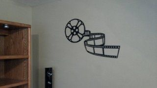 Home Theater Decor Movie Reel 3ft Black Metal Wall Art   Wall Sculptures