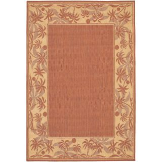 Couristan Recife Island Retreat Indoor/Outdoor Area Rug   Terra Cotta/Natural   Area Rugs