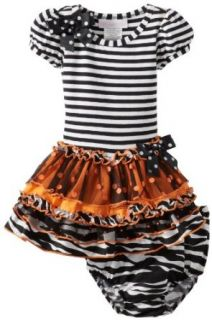 Bonnie Baby Baby Girls Infant Stripe To Multi Tier Skirt Dress Clothing