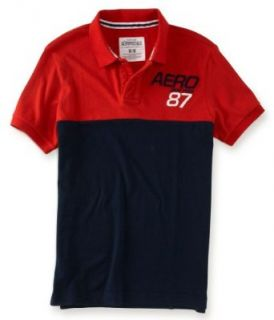 Aeropostale Mens Slantttering Rugby Polo Shirt 829 L at  Men�s Clothing store