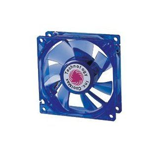 Blue Coolmax 120mm UV Crystal LED Cooling Fan, 1500 RPM, 85.64 CFM
