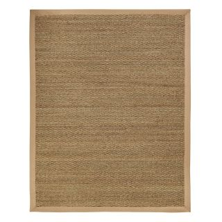Anji Mountain AMB0119 Sabertooth Natural Seagrass Straight Weave Area Rug with Khaki Border   Area Rugs