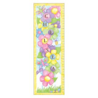 Garden Party Growth Chart Personalized Wall Art   Kids and Nursery Wall Art