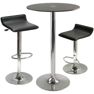 Winsome Rossi 3 Piece Round Pub Table Set   Pub Tables