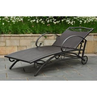 Lisbon Wicker Contemporary Multi Position Patio Chaise Lounge   Outdoor Chaise Lounges