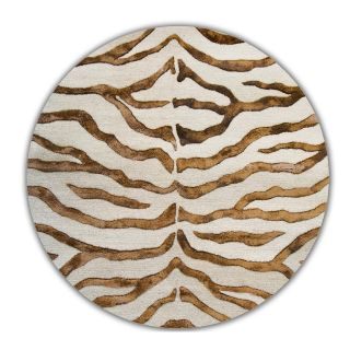 nuLOOM Remix Zebra Wool and silk like viscose ZF01 2308 Area Rug   Brown   Area Rugs