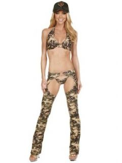 Sexy Fantasy Army Soldier Chaps Costume   SMALL Clothing