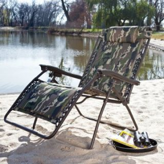 Coral Coast Extra Wide Padded Zero Gravity Lounge Chair   Camouflage   Outdoor Chaise Lounges