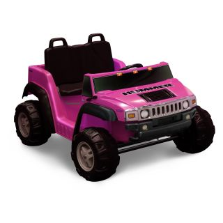 Kid Motorz Two Seater Hummer H2 Battery Powered Riding Toy   Pink   Battery Powered Riding Toys