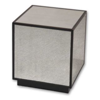 Uttermost Matty Mirrored Cube End Table   End Tables
