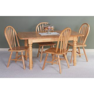 Sunset Trading 5 pc. Extension Dining Table Set with Arrowback Chairs   Light Oak   Dining Tables