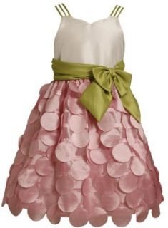 Size 7 BNJ 3274S PINK IVORY GREEN TRIPLE STRAP FLUTTER DIE CUT DOT Special Occasion Wedding Flower Girl Easter Party Dress, S43274 Bonnie Jean 7 16 Clothing