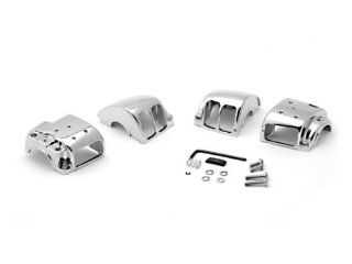 Harley Davidson 1996 2012 Sportster / Dyna / Softail / V Rod Custom Chrome Handlebar Switch Housing Cover Kit Automotive