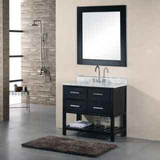 Design Element London 36 in. Single Bathroom Vanity Set   Single Sink Bathroom Vanities