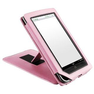CommonByte Pink Leather Stand Case Cover For Barnes & Noble Nook Color  Players & Accessories