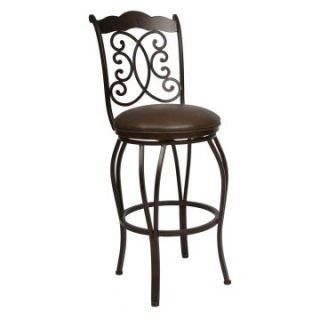 Pastel 26 in. Athena Swivel Counter. Stool   Autumn Rust   Bar Stools