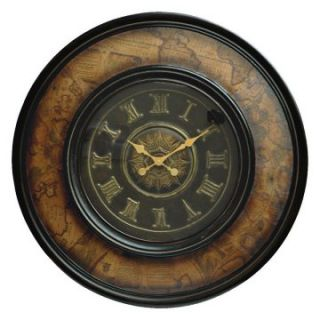 Map Theme Traditional Wall Clock with Roman Numerals   Wall Clocks