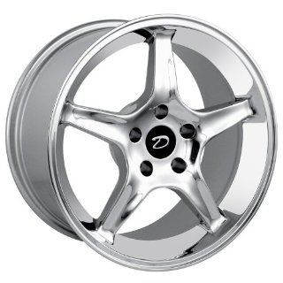"Detroit  830 Replica Ford Mustang Cobra R Chrome Finish (17x9""/5x114.3mm) Automotive"