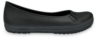 Crocs   Crocband Flat Womens Footwear, Size 11 B(M) US Womens, Color Black/Graphite Loafer Flats Shoes