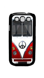 Retro Hippie Peace Mini Van (red)   Samsung Galaxy S3 I9300 Case Rare Cell Phones & Accessories
