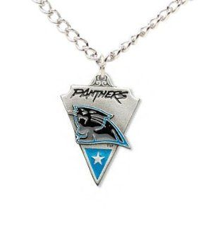 Carolina Panthers Chain Necklace & Pewter Pendant   NFL Football Fan Shop Sports Team Merchandise  Sports & Outdoors