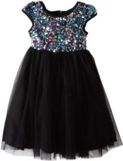 Marmellata Girls 2 6X Sequin Topped Party Dress, Multi, 2T Special Occasion Dresses Clothing