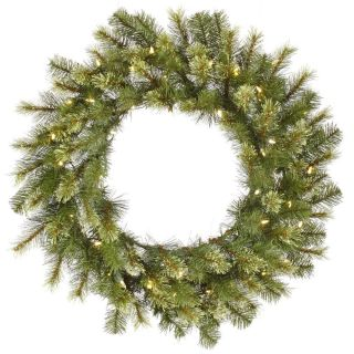 Vickerman 36 ft. Pre Lit LED Jack Pine Wreath   Christmas Wreaths