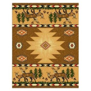 Linon Lodge Area Rug   Cream   4.25 x 7.25 ft.   Area Rugs