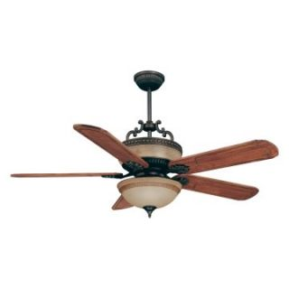 Ellington MAL56ABZ5CRW Mallory 56 in. Indoor Ceiling Fan   Aged Bronze   Ceiling Fans