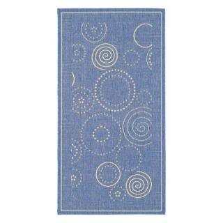 Safavieh Courtyard CY1906 Area Rug Blue/Natural   Area Rugs