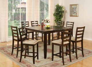 Fairwinds 7Pc Square Counter Height Table & 6 Chairs Home & Kitchen