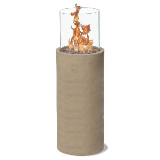 Piazza 30 in. Gas Fire Column   Sand   Fire Pits