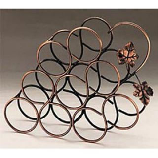 Grape 9 Bottle Table Top Metal Wine Rack   Wine Accessories
