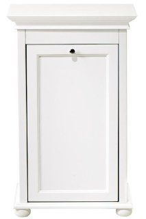 "Hampton Bay 26 Inch White Double Tilt Out Hamper, DOUBLE 26""W, WHITE   Laundry Hampers"