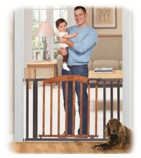 Summer Infant Decorative Wood and Metal Expansion Walk Thru Gate   Baby Gates