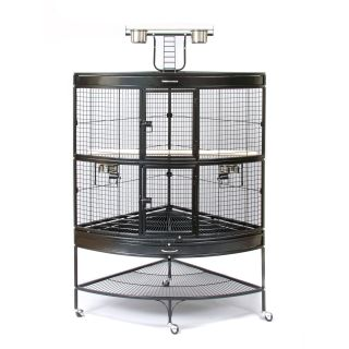 Prevue Pet Products Corner Parrot Cage Black 3158BLK   Bird Cages