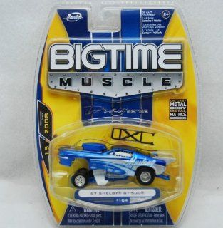 Jada Dub City Big Time Muscle Blue 1967 Shelby GT 500 164 scale die cast car DRAG SERIES Toys & Games
