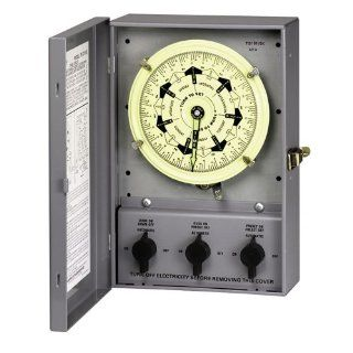Intermatic T51311BC Presets and Carryover 120 Volt 7 Day Mechanical Time Switch with Nema 1 Indoor Cover   Wall Timer Switches