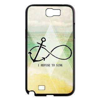 Custom Anchors Back Cover Case for Samsung Galaxy Note 2 N7100 N114 Cell Phones & Accessories