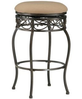 Hillsdale Lincoln 26 in. Backless Swivel Counter Stool   Black Gold   Bar Stools