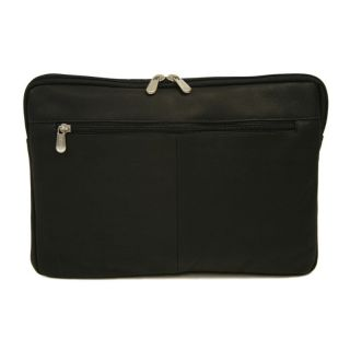 Piel Leather 15 in. Zip Laptop Sleeve   Black   Business and Laptop Bags