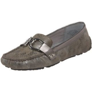AK Anne Klein Women's Greater 6 Loafer,Pewter/Pewter Suede,10 M US Shoes