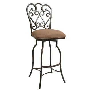Pastel Magnolia 26 in. Swivel Counter Stool   Autumn Rust   Bar Stools