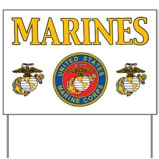 Yard Sign Marines United States Marine Corps Seal  Patio, Lawn & Garden