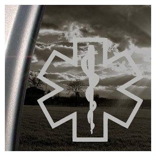 "STAR OF LIFE 5.5"" SILVER Vinyl Decal Window Sticker for Laptop, Ipad, Window, Wall, Car, Truck, Motorcycle   Wall Decor Stickers"