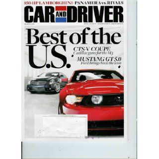 Car and Driver March 2010 850 HP Lamborghini Best of the U.S. Cadillac CTS V Mustang GT 5.0 Books